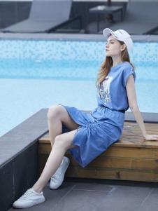 2019安卡茜女装休闲连衣裙