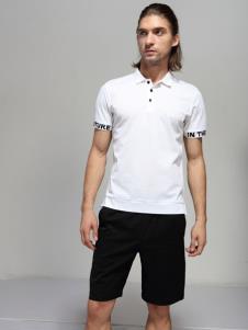 2019劳夫罗伦男装白色polo衫
