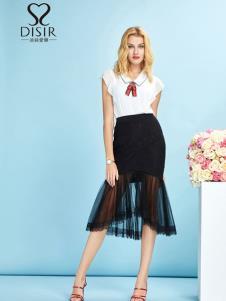 迪丝爱尔女装黑色半裙19新款