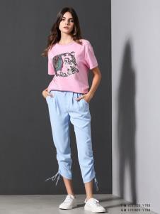VENSSTNOR(维斯提诺)粉色T恤