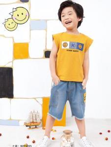 KIKI小鬼当家黄色T恤