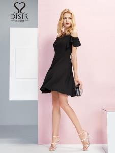 迪丝爱尔女装优雅小黑裙