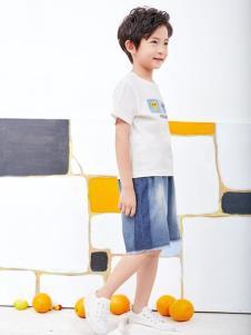 小鬼当家童装KIKI小鬼当家白色T恤