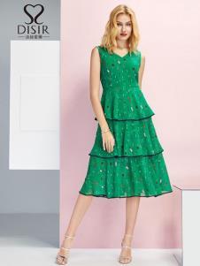 迪丝爱尔女装绿色连衣裙