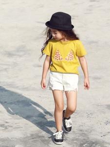 Apple Orange轻潮童装女童黄色T恤