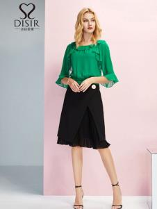 迪丝爱尔女装绿色时尚上衣