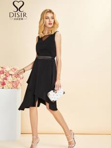 迪丝爱尔女装新款黑色裙子