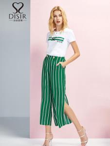 迪丝爱尔女装新款条纹休闲裤