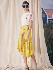 SIEGO西蔻19黄色半裙