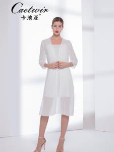 卡地亚中高端女装白色真丝套装裙