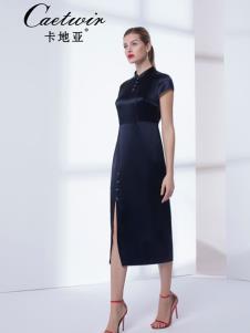 卡地亚中高端女装黑色时尚连衣裙