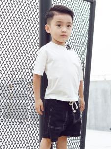 Apple Orange童装男童夏白色T恤
