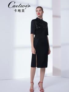 卡地亚女装优雅黑色连衣裙