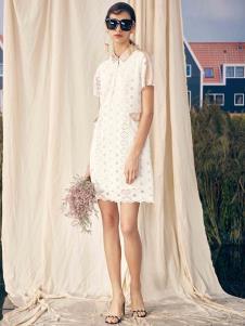 SIEGO西蔻19白色蕾丝裙