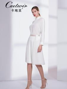 卡地亚中高端女装白色优雅连衣裙