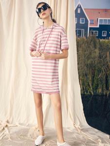SIEGO西蔻19条纹连衣裙