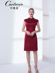 卡地亚中高端女装红色连衣裙
