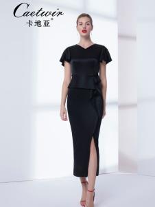 卡地亞女裝19黑色優雅連衣裙