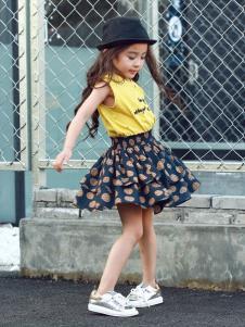 Apple Orange童装女童波点半裙