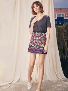 SIEGO西蔻19时髦复古半裙