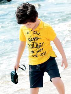 2019形仔童裝男童黃色T恤