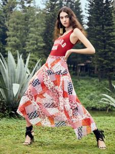 SIEGO西蔻19新款印花裙