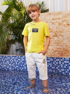 2019杰米熊男童黄色T恤
