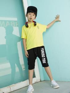 YukiSo童装YukiSo男童黄色T恤
