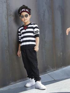 YukiSo童装男童条纹上衣