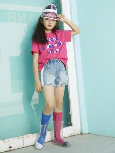 YukiSo女童红色印花T恤
