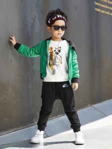 YukiSo童装男童绿色休闲外套