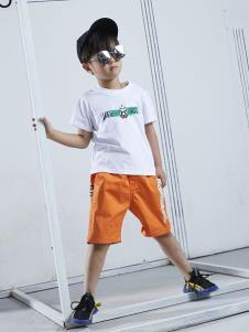 YukiSo童装男童白色T恤