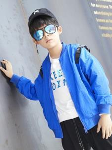 YukiSo童装男童蓝色夹克