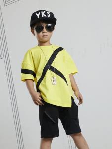 YukiSo男童黄色T恤