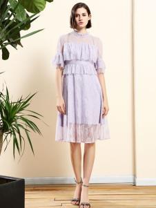 2019艺梦来浅紫色连衣裙