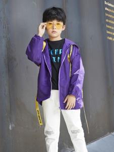 YukiSo童装男童休闲紫色外套