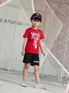 YukiSo男童红色T恤