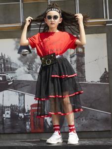 YukiSo童装女童夏款个性连衣裙