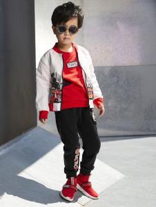 YukiSo童装男童休闲白色外套