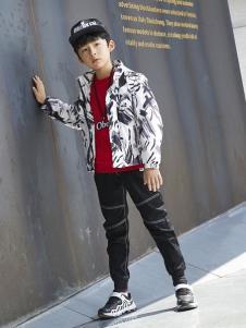 YukiSo童装男童时尚印花外套