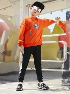 YukiSo男童橙色卫衣