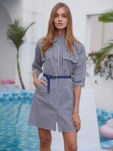 2019EI女裝時尚襯衫裙