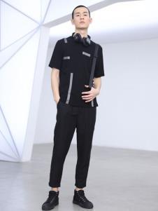 线锁男装个性休闲T恤