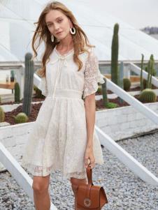 2019EI女装白色韩版连衣裙