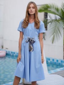 2019EI女裝淺藍色連衣裙