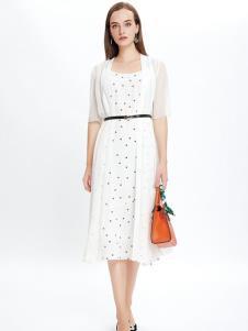 JAOBOO乔帛白色连衣裙