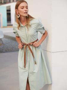 2019EI女装浅绿色衬衫裙