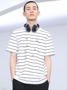 线锁男装条纹T恤
