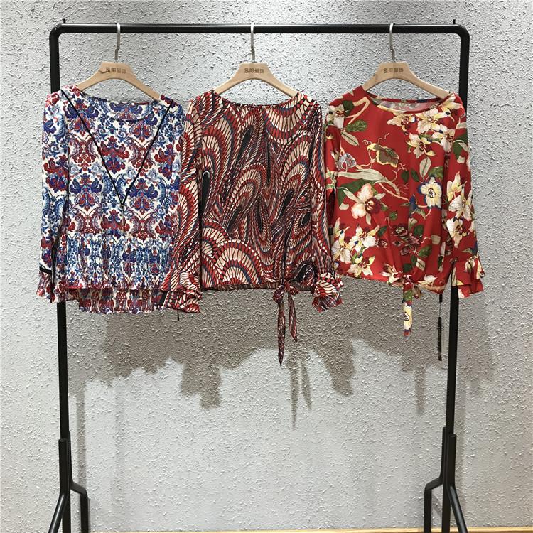 依诗秋品牌19春季女装品牌折扣批发走份