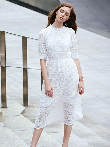 37°生活美学白色蕾丝裙